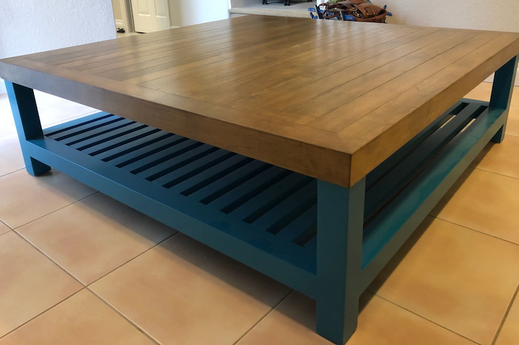 Blue coffee table project